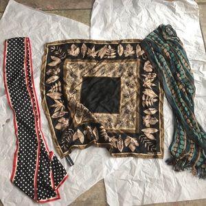 3 scarfs, Talbots ,Jones New York both silk plus 1